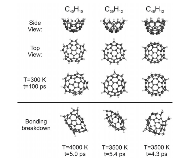 C60-derived nanobaskets: stability, vibrational signatures, and molecular trapping