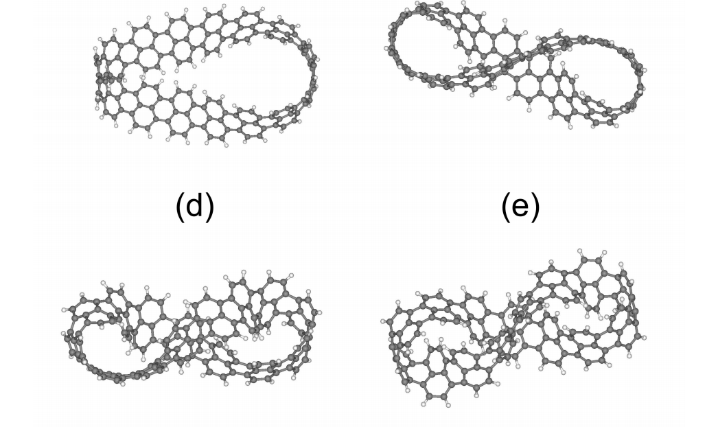 Mobius and twisted graphene nanoribbons: stability, geometry and electronic properties