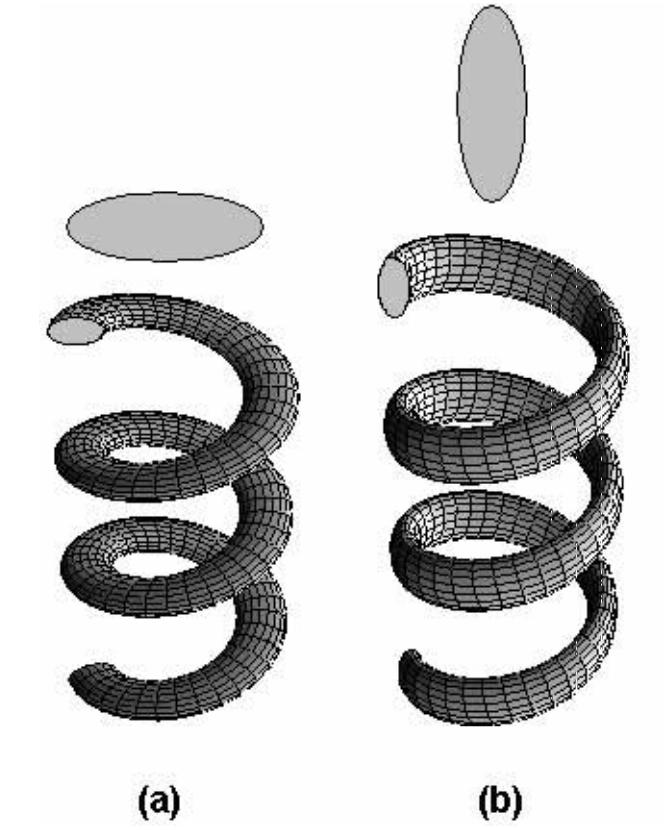 Elastic Properties of Normal and Binormal Helical Nanowires