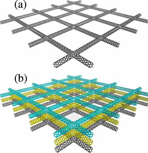 Mechanical properties of carbon nanotube networks by molecular mechanics and impact molecular dynamics calculations
