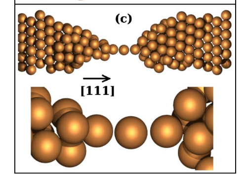 Transmission electron microscopy and molecular dynamics study of the formation of suspended copper linear atomic chains