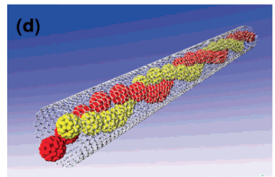 Prediction of ordered phases of encapsulated C60, C70, and C78 inside carbon nanotubes
