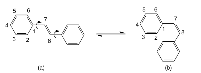 Comparative parametric method 5 (PM5) study of trans-stilbene