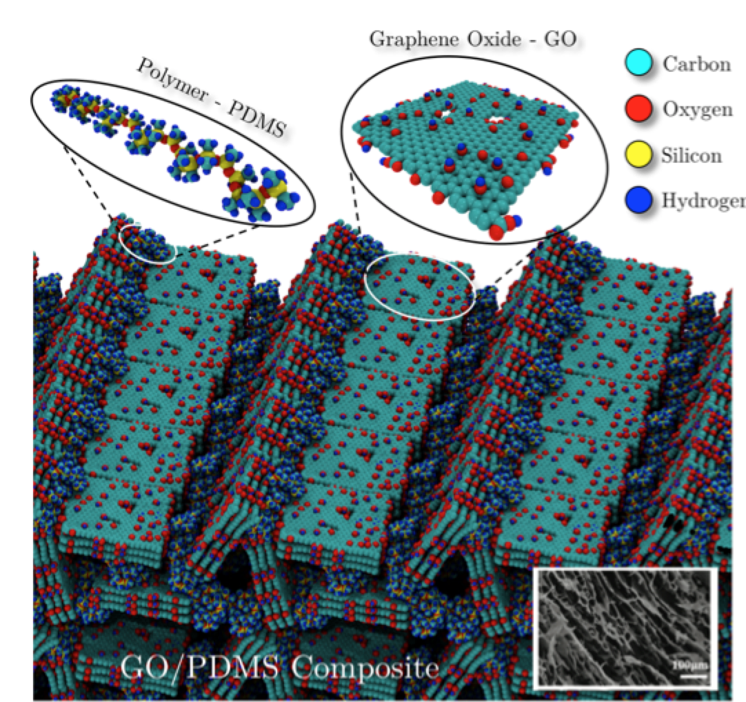 Mechanical Properties of Ultralow Density Graphene Oxide/Polydimethylsiloxane Foams