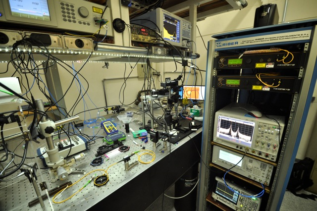 Optical setups at the Nanophotonics lab.